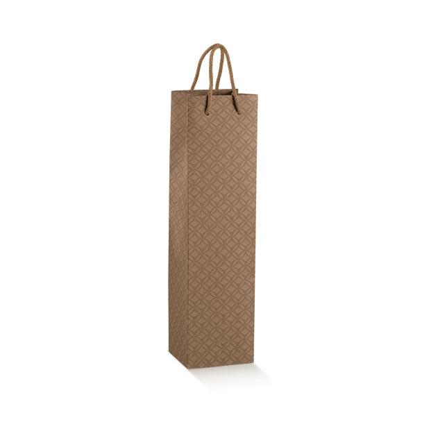 Shopping box avec cordelettes 1 bouteille