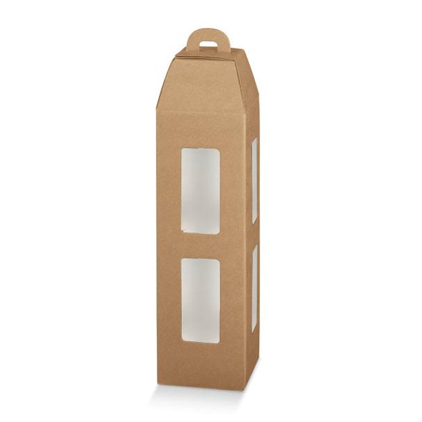 Lanterna avec fenêtre(s) intérieur glacé 1 bouteille